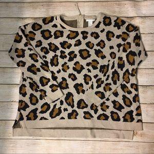 H & M leopard print sweater